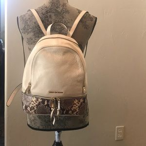 Michael lord leather backpack